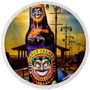 Coney Island Beer Round Beach Towel