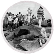 Coney Island, New York  #234972 Round Beach Towel