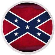 Confederate Rebel Battle Flag Round Beach Towel