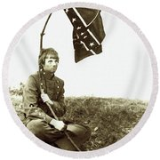 Confederate Soldier Round Beach Towel