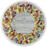 Confetti Circle Round Beach Towel