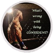 Confident Round Beach Towel