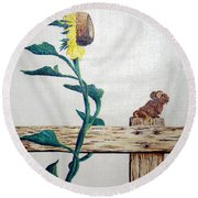 Confluence Round Beach Towel by A  Robert Malcom