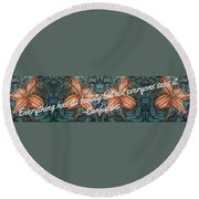Confucius Beauty  Round Beach Towel