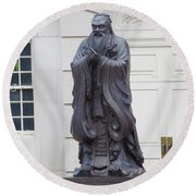 Confucius Round Beach Towel by Catherine Gagne