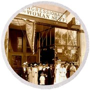 Congressional Union For Woman Suffrage Colorado Headquarters 1914 Round Beach Towel