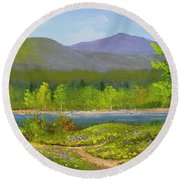 Connecticut River Spring Round Beach Towel