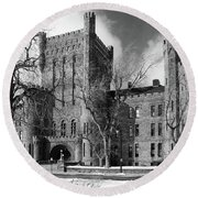 Round Beach Towel featuring the photograph Connecticut Street Armory 3997b by Guy Whiteley