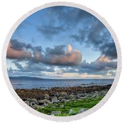 Connemara Sunset Round Beach Towel