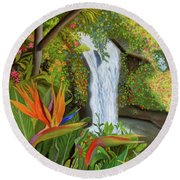 Conquest Of Paradise Round Beach Towel