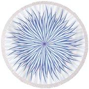 Round Beach Towel featuring the digital art Consontrate by Jamie Lynn