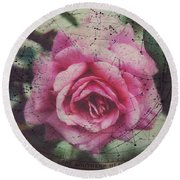 Constellation Rose Round Beach Towel by Toni Hopper