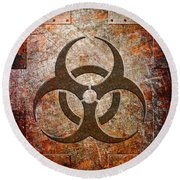 Contagion Round Beach Towel