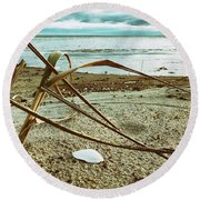 Contemplate Round Beach Towel