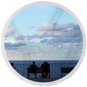 Contemplation Round Beach Towel by Ana Mireles