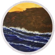 Contemplation  Round Beach Towel