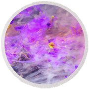 Contemplation - Colorful Abstract Photography Round Beach Towel
