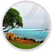 Contemplation Round Beach Towel