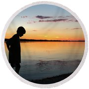 Contemplation Round Beach Towel by Kelly Hazel