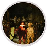 Contemporary 1 Rembrandt Round Beach Towel