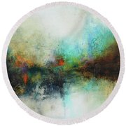 Contemporary Abstract Art Painting Round Beach Towel