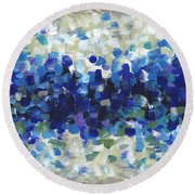 Contemporary Art Forty-three Round Beach Towel