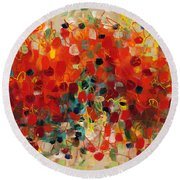 Contemporary Art Thirty-three Round Beach Towel