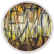 Contemporary Art Three Round Beach Towel