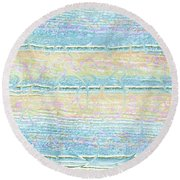 Round Beach Towel featuring the photograph Contemporary Design by Ellen O'Reilly