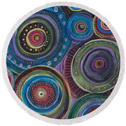 Continuum Round Beach Towel by Tanielle Childers