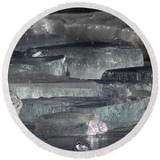 Contoocook River Jewels Round Beach Towel