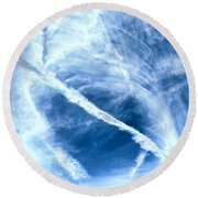 Contrail Concentricities Round Beach Towel