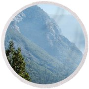 1 Of 4 Controlled Burn Of Yosemite Section Round Beach Towel