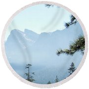 3 Of 4 Controlled Burn Of Yosemite Section Round Beach Towel