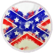 Controversial Flag Round Beach Towel