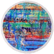 Convection Diffusion Round Beach Towel
