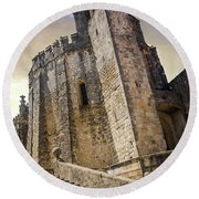 Convent Of Christ In Tomar Round Beach Towel