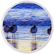 Round Beach Towel featuring the photograph Convention by Joye Ardyn Durham