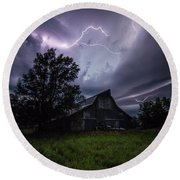 Round Beach Towel featuring the photograph Convergence  by Aaron J Groen