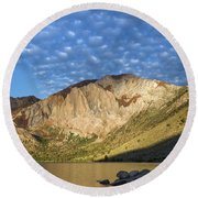 Convict Lake  Round Beach Towel