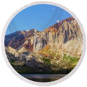Convict Lake - Mammoth Lakes, California Round Beach Towel