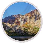 Convict Lake - Mammoth Lakes, California Round Beach Towel