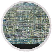 Convoluted Round Beach Towel by Jacqueline Athmann