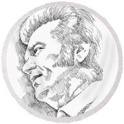 Conway Twitty Round Beach Towel