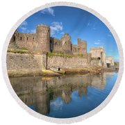 Conwy Castle Round Beach Towel