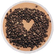 Cooking Desserts With Love  Round Beach Towel