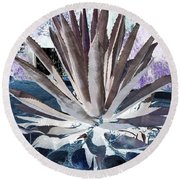 Cool Agave Round Beach Towel