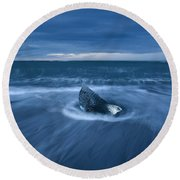 Cool Blue Round Beach Towel by Dustin LeFevre