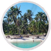 Cool Breeze Round Beach Towel