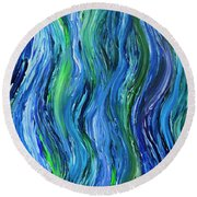 Cool Currents Round Beach Towel